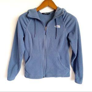 The North Face Blue Zip Mezzaluna Fleece Hoodie